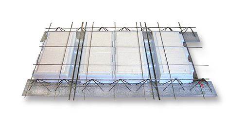 Laje treliçada EPS (isopor) bidirecional